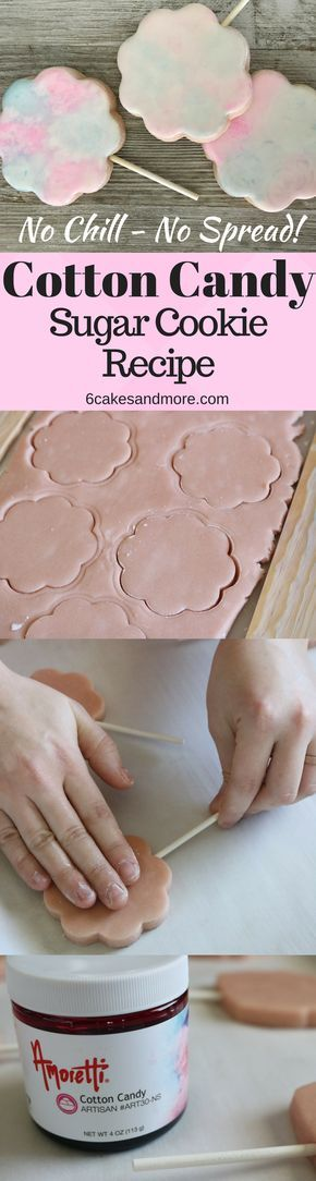 Cotton Candy Sugar Cookies #sugarcookies