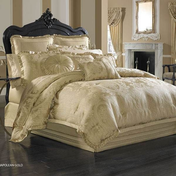 Shop J Queen New York Napoleon Gold Comforter Set   The Home Decorating  Company