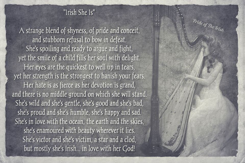 Irish Girl's Poem. I Cannot Find Anything Else On This