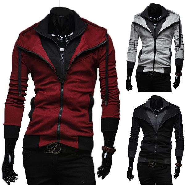 Sports Hooded Jacket Casual Winter Jackets Hoody Sportswear Hip ...