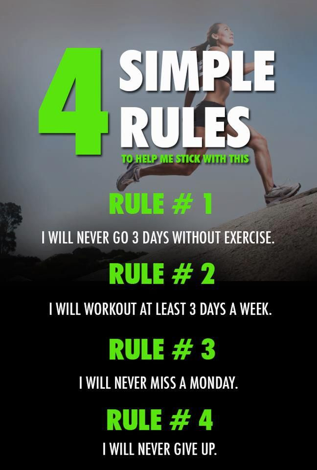 Reach Your Fitness Goals With The 4 Simple Rules Yes You Can Health Fitness Inspiratio