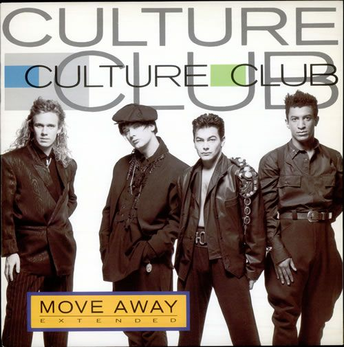 "For Sale - Culture Club Move Away UK  12"" vinyl single (12 inch record / Maxi-single) - See this and 250,000 other rare & vintage vinyl records, singles, LPs & CDs at http://eil.com"