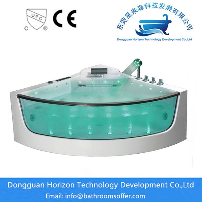 China Freestanding Acrylic Corner Jacuzzi Tub Manufacturers