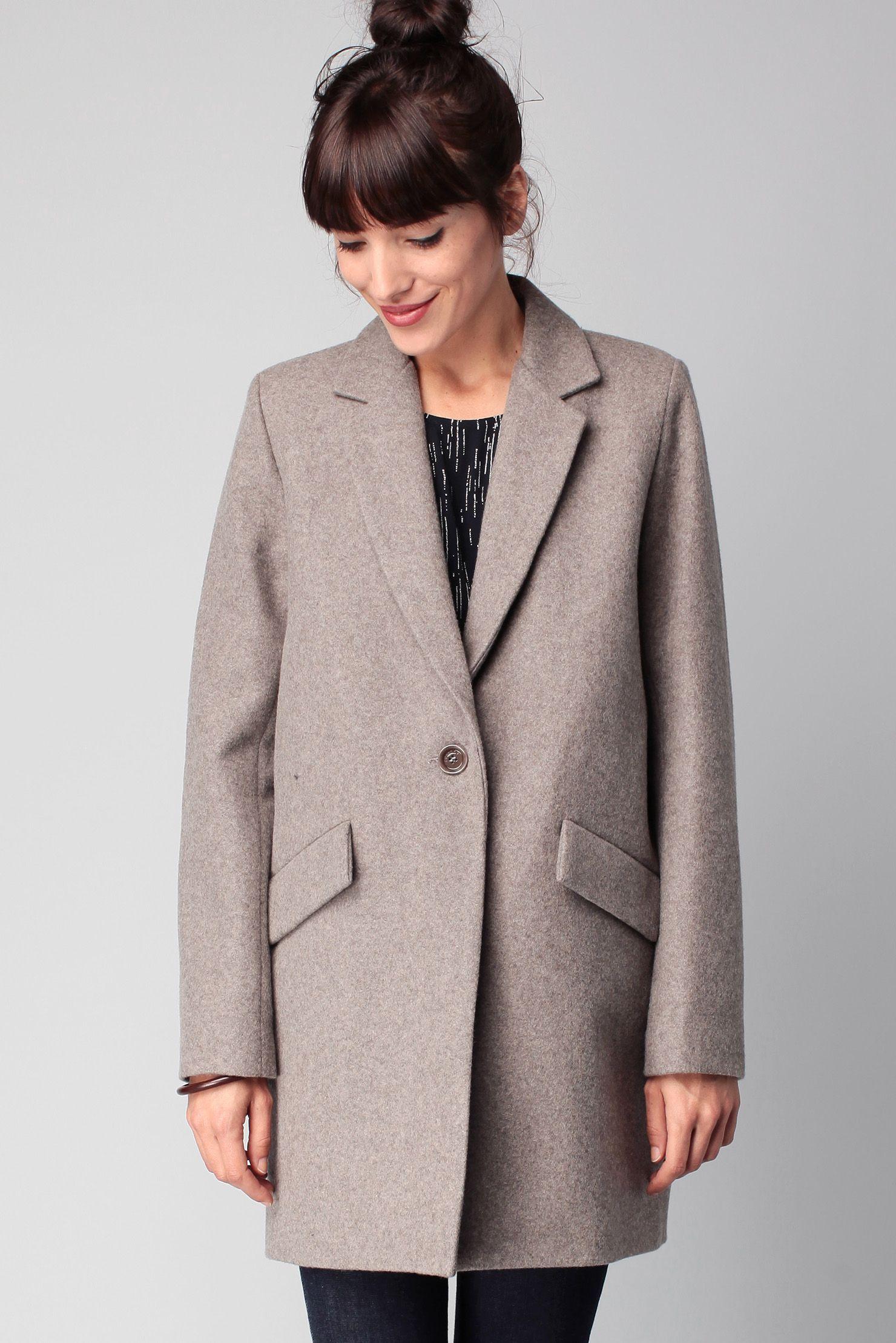Manteau gris laine Hello Dol Gris chiné Sessun sur MonShowroom.com ... dba4153cbc2a