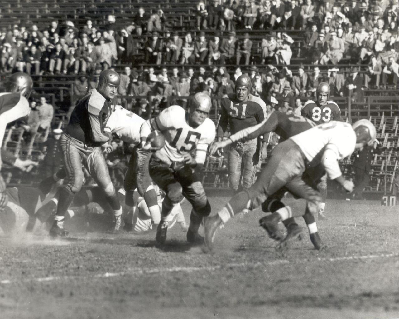 Philadelphia (Steve Van Buren #15) at Boston Yanks December 5, 1948