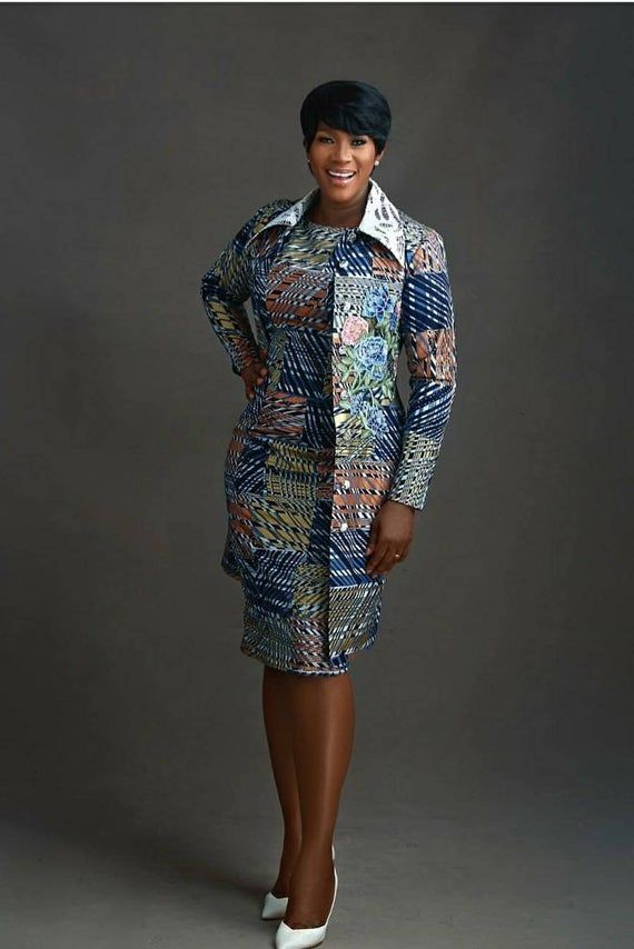 African dress and jacket, jacket, dress, African jacket, African dress, African women outfit, women outfit, Stephanie Linus dress, Africa #africandressstyles