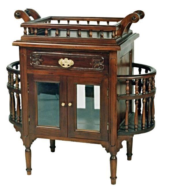 Victorian Style Mahogany Drinks Cabinet