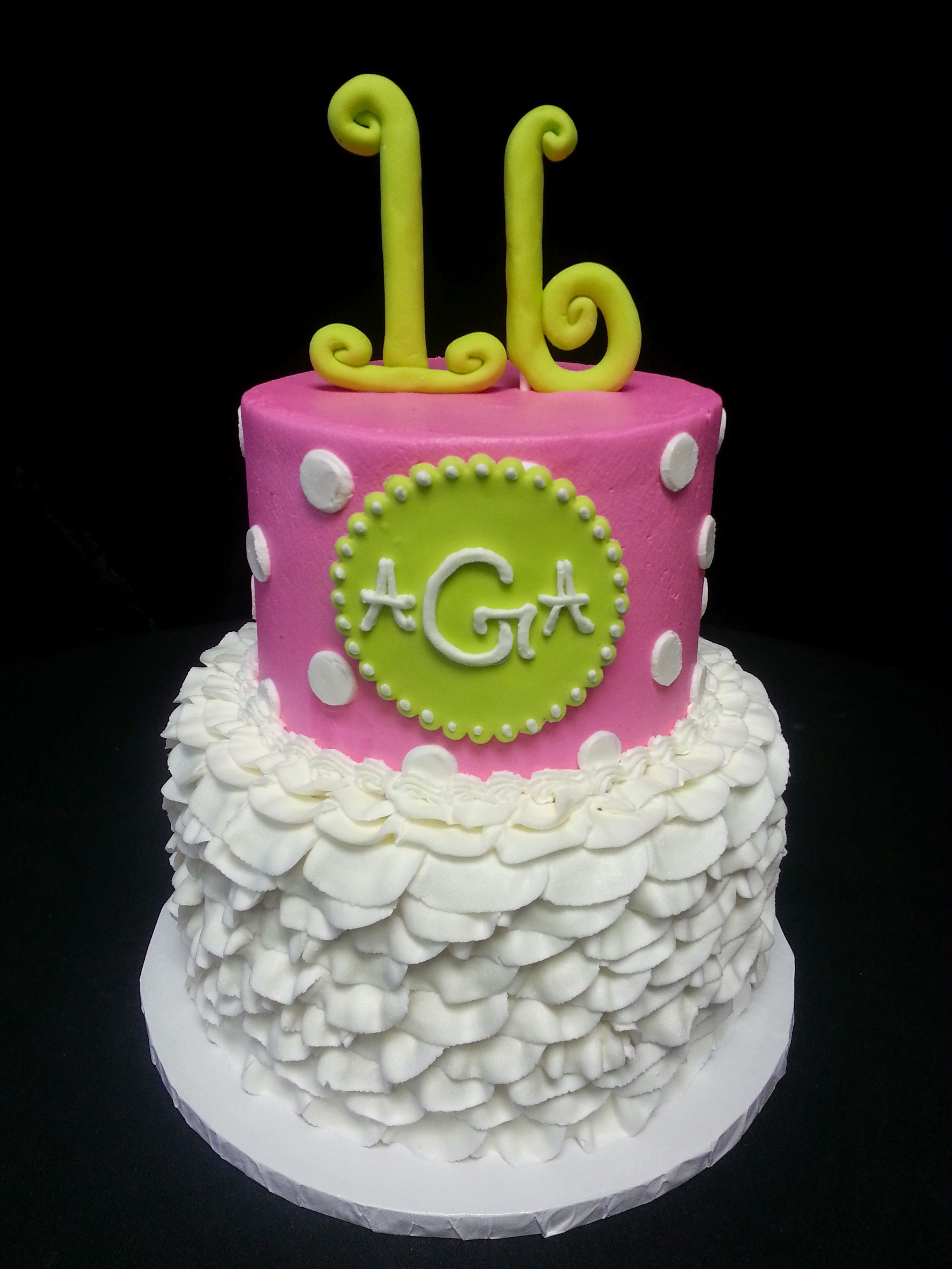 Cookie Jar Bakeshop I Custom Cakes I Birthday Cake I Monogram - Monogram birthday cakes