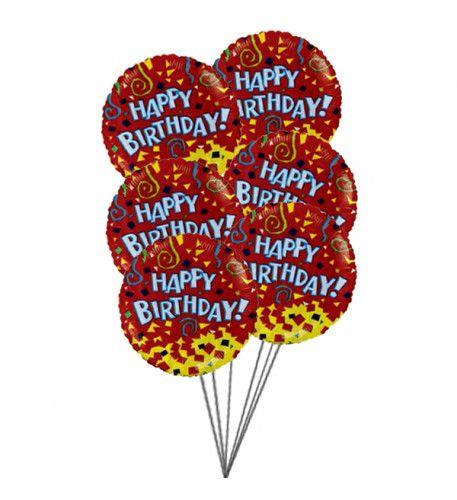 Happybirthdayballoonswithcolouroflove6 Mylar Balloons HappiestBirthdayBalloons BalloonsInUsa