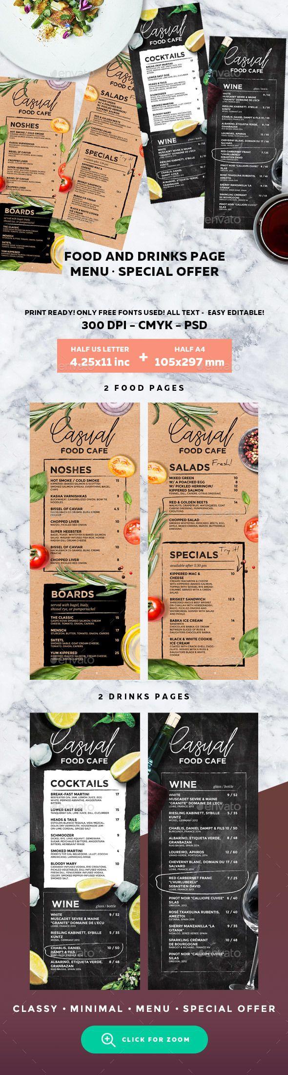 Cafe Menu | Pinterest | Speisekarte, Grafikdesign und Möwen
