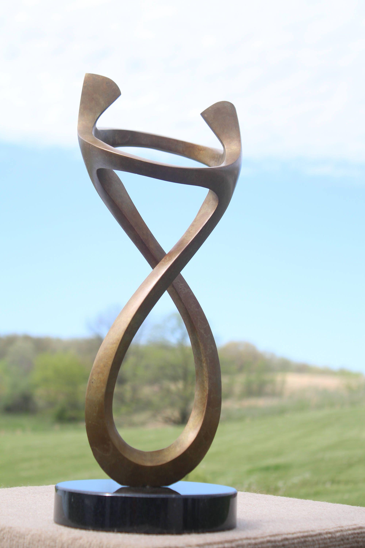 Ring Bronze Sculpture, Wedding Gift, 8th Bronze
