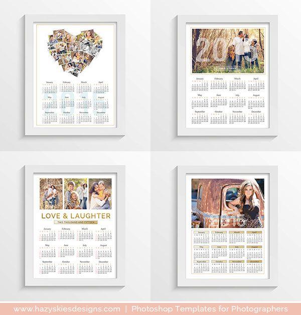 2015 2016 Photoshop Calendar Templates For Photographers 2015