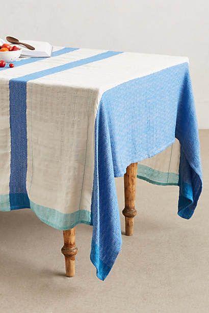 $59.95 Indigo Contrast Tablecloth