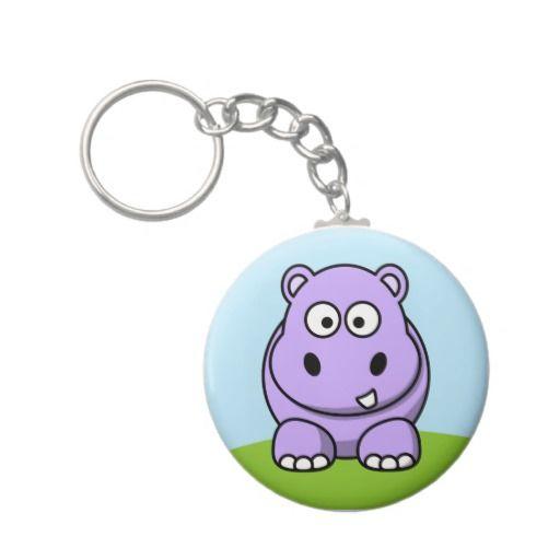 Cute Lavender Hippo Key Chains
