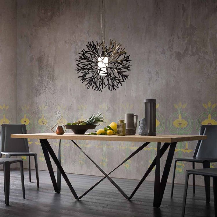 Sedit Wave Wooden Dining Table Contemporary Dining Room