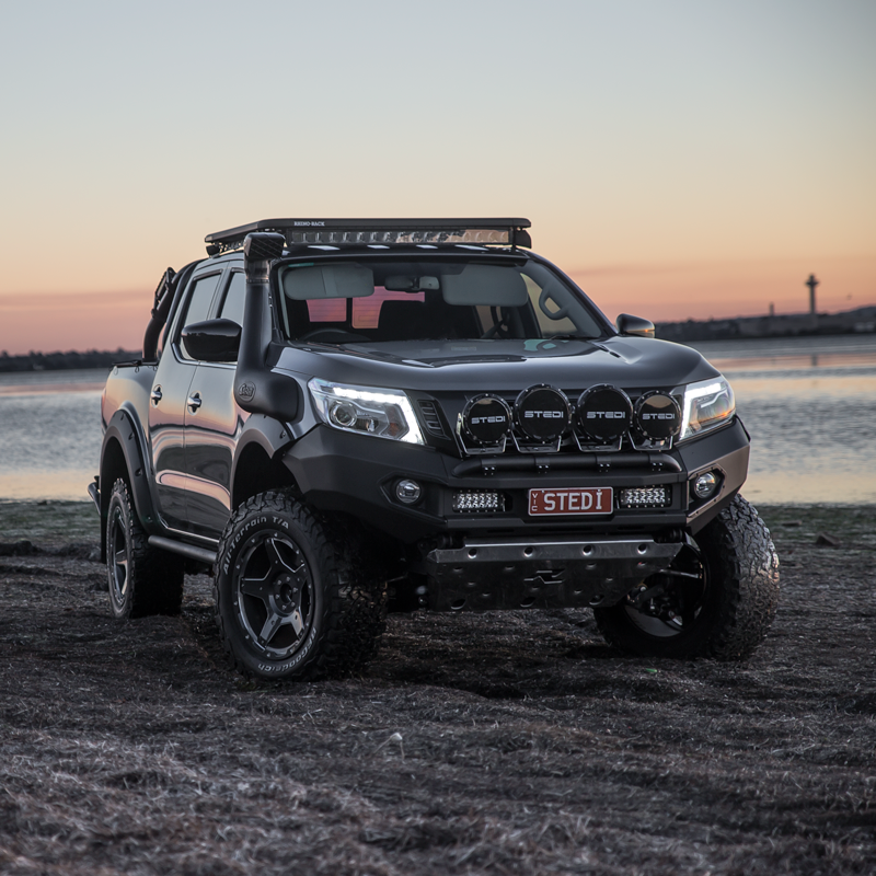 Nissan Navara NP300 With 4 Type-X LED Spot Lights