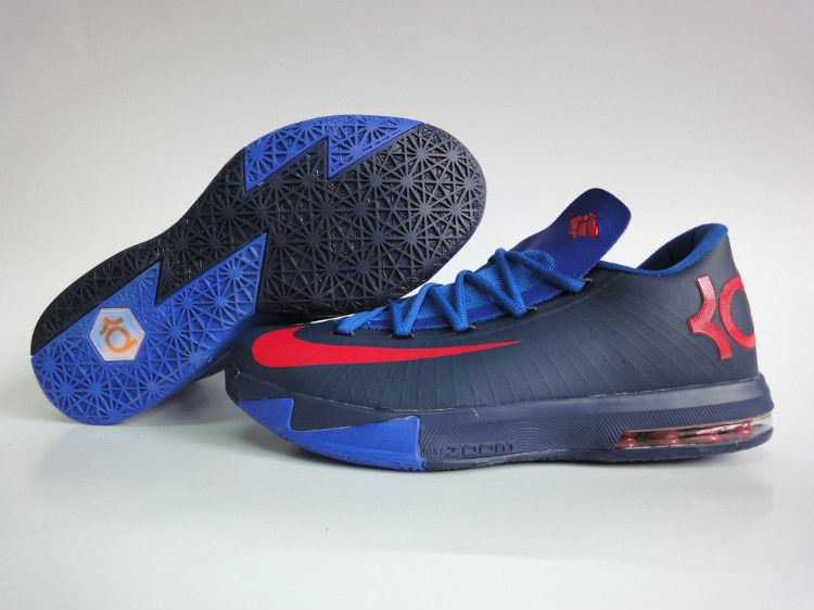 Nike KD Black Blue Red Slippers For Sale