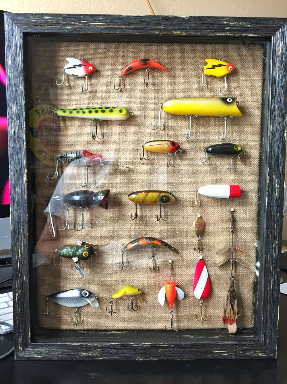 My Home Made Fishing Lure Shadow Box Woodworking