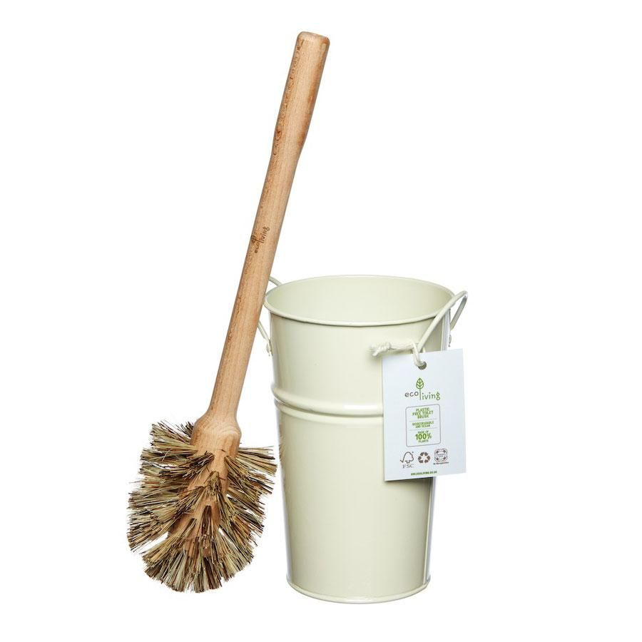 Ecoliving Plastfri Toalettborste & Behållare – JustGood