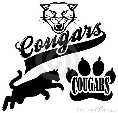 cougar paw clip art cougar team mascot royalty free stock rh pinterest com cougar school mascot clipart cougar mascot vector clipart