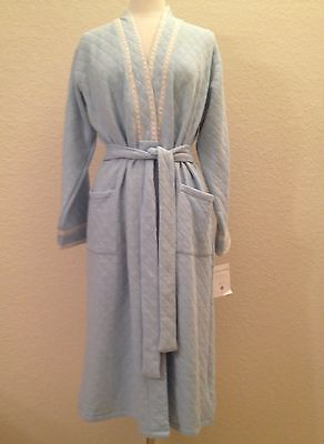 Eileen West Matelasse Wrap Robe C5914531 Blue - Choose Sz