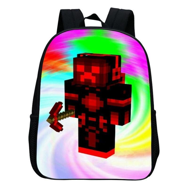 ebb0b9d3c5e3 Kindergarten Children School Bag Minecraft Cartoon Backpack Printing School  Bags For Boys Girls Small Backpacks Mochila Infantil