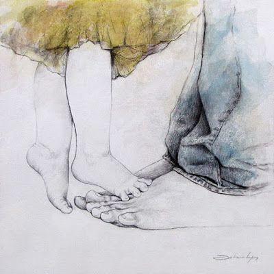 Juliano Lopes Dibujos Retratos Madre Arte Pintura Boceto
