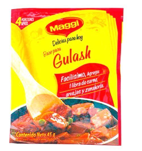 5x Pack Maggi Base for Goulash Sauce - Base para Salsa Gulash Colombia 45g