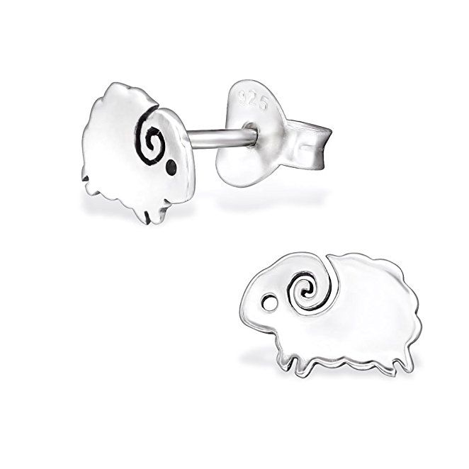 Hypoallergenic Silver Sheep Stud Earrings For S Nickel Free And Safe Sensitive Ears