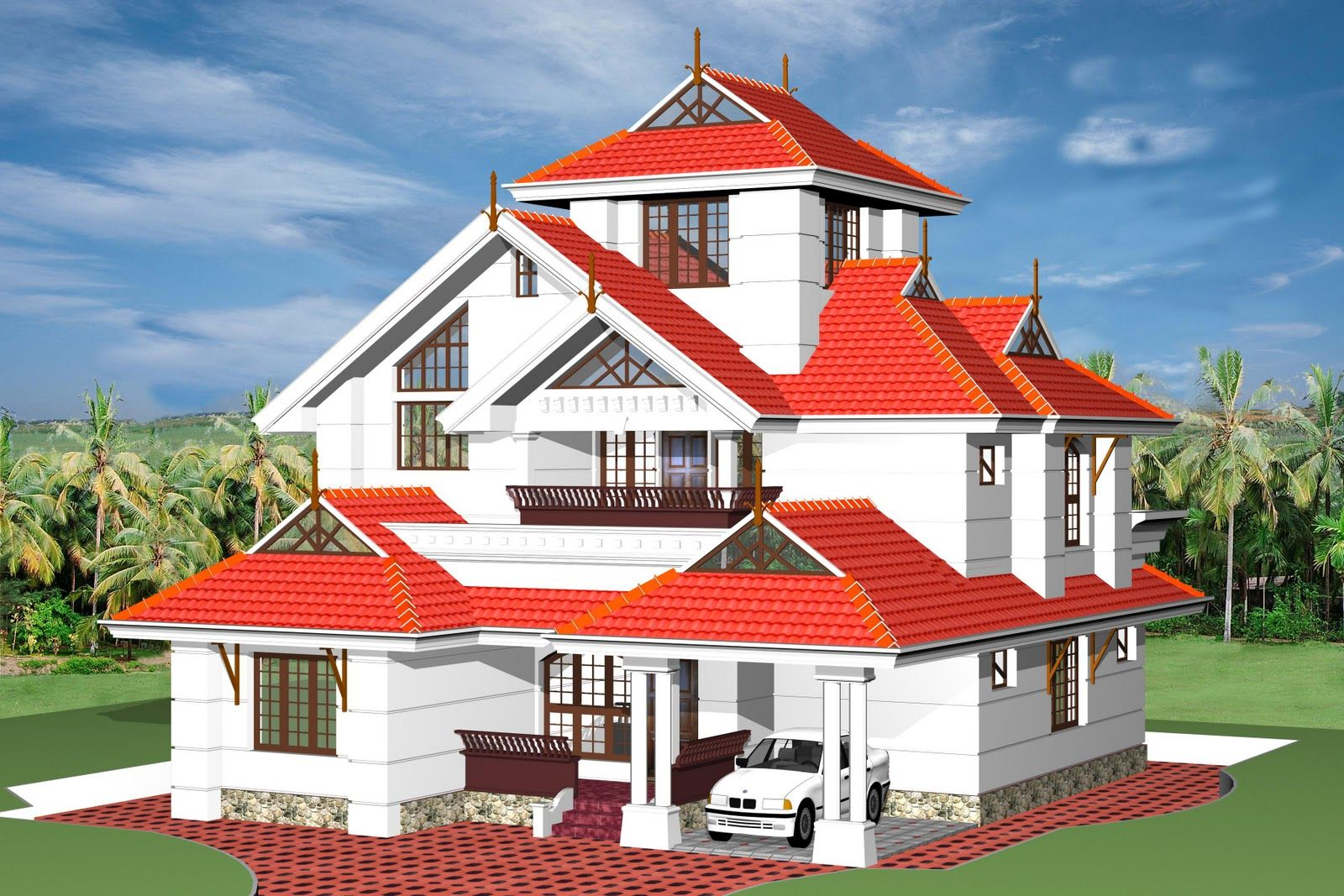 Fresh 3d views of kerala style home plansindian home design d house malvernweather Image collections