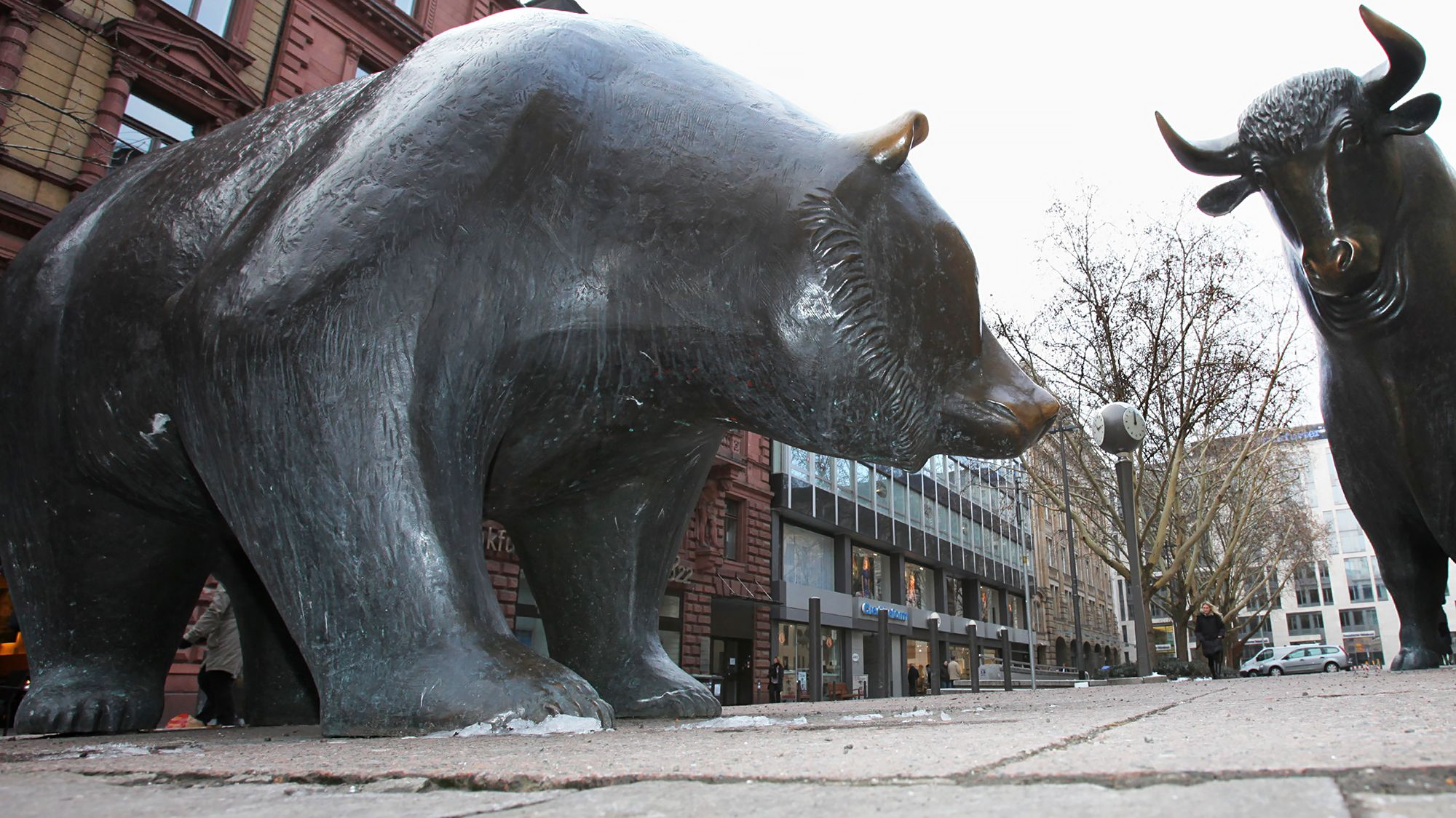 6397cf611ea Image result for bull bear wall street