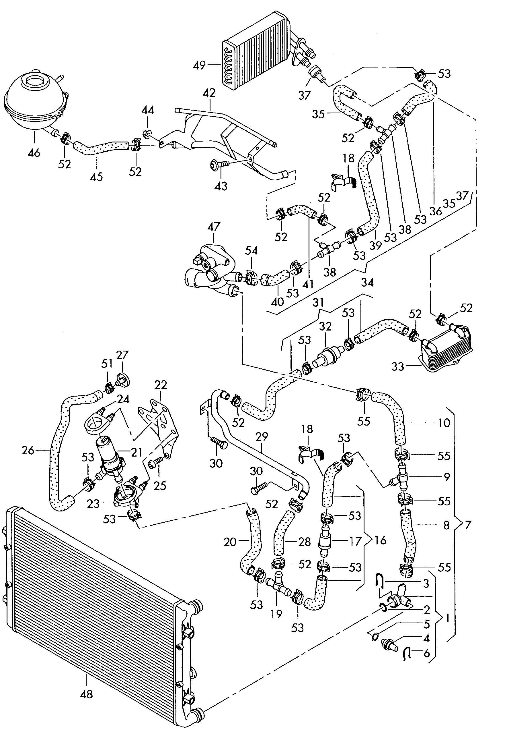 2003 audi rs6 radiator component assembly and parts diagram car