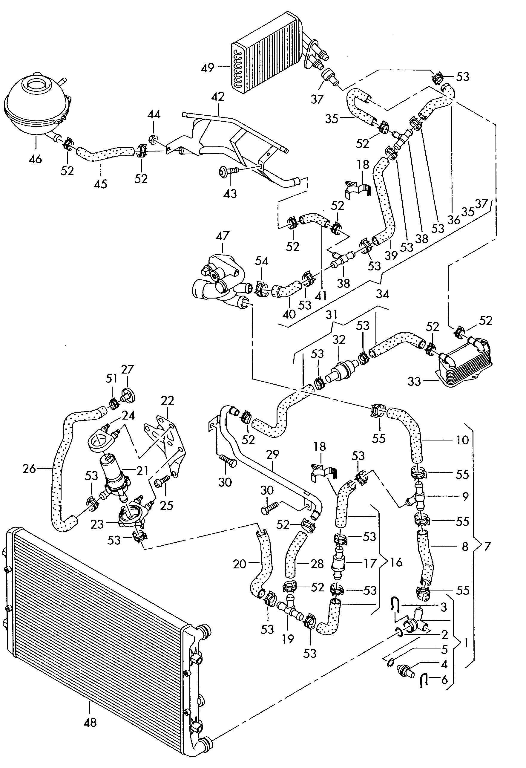Audi A3 Cooling System Diagram | Audi | Audi a3, Audi, Cars
