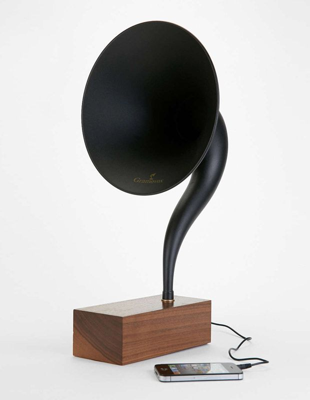Modern technology meets vintage audio design. Gramovox bluetooth gramophone.