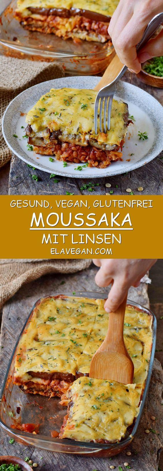 Photo of Linsen Moussaka Rezept | gesund, vegan, glutenfrei – Elavegan