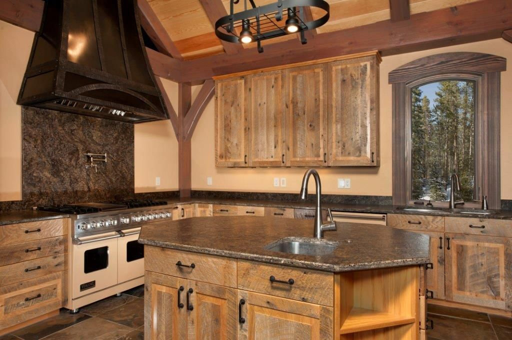 Chestnut And Rusted Steel Cabinetry | T. Scholl Fine Woodworks | T. Scholl Fine Woodworks