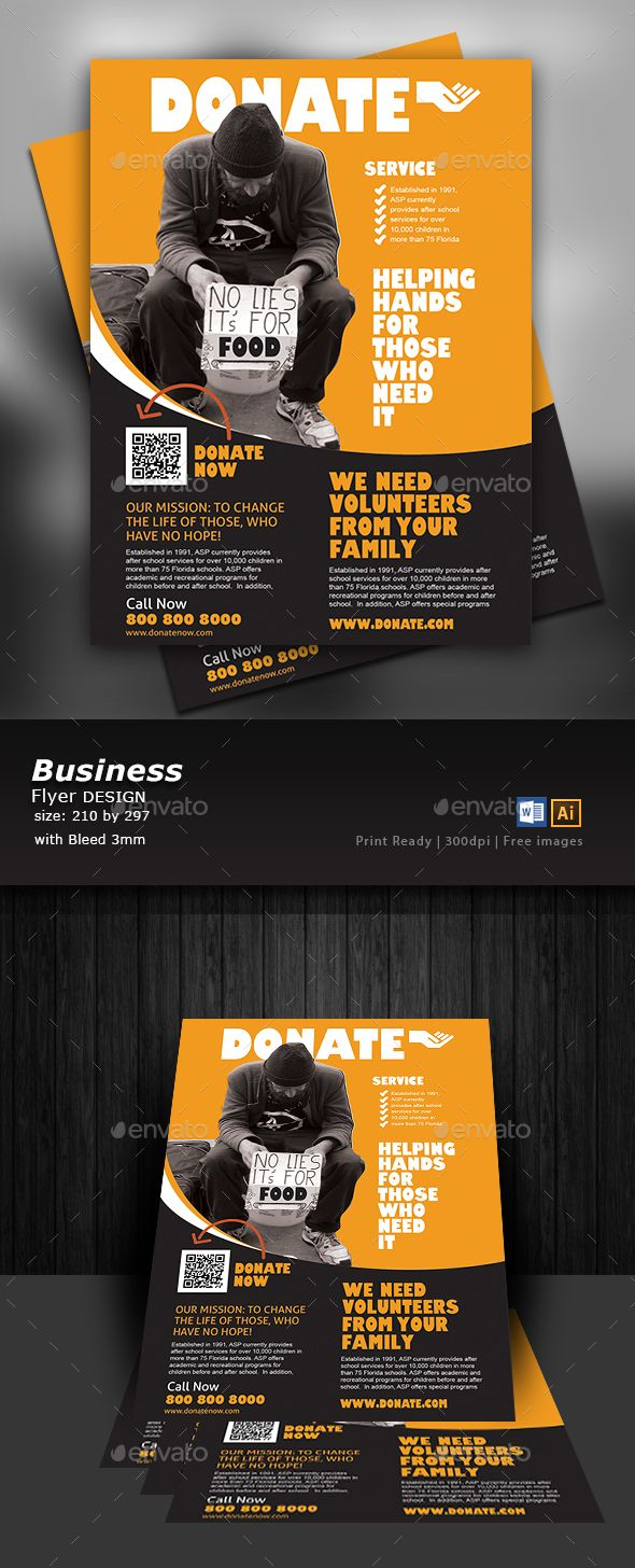 insurance company after disaster flyer template  Donate and Charity Flyer Design — EPS Template #success ...