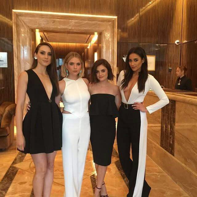 Ashley Benson, Lucy Hale, Shay Mitchell and Troian ...
