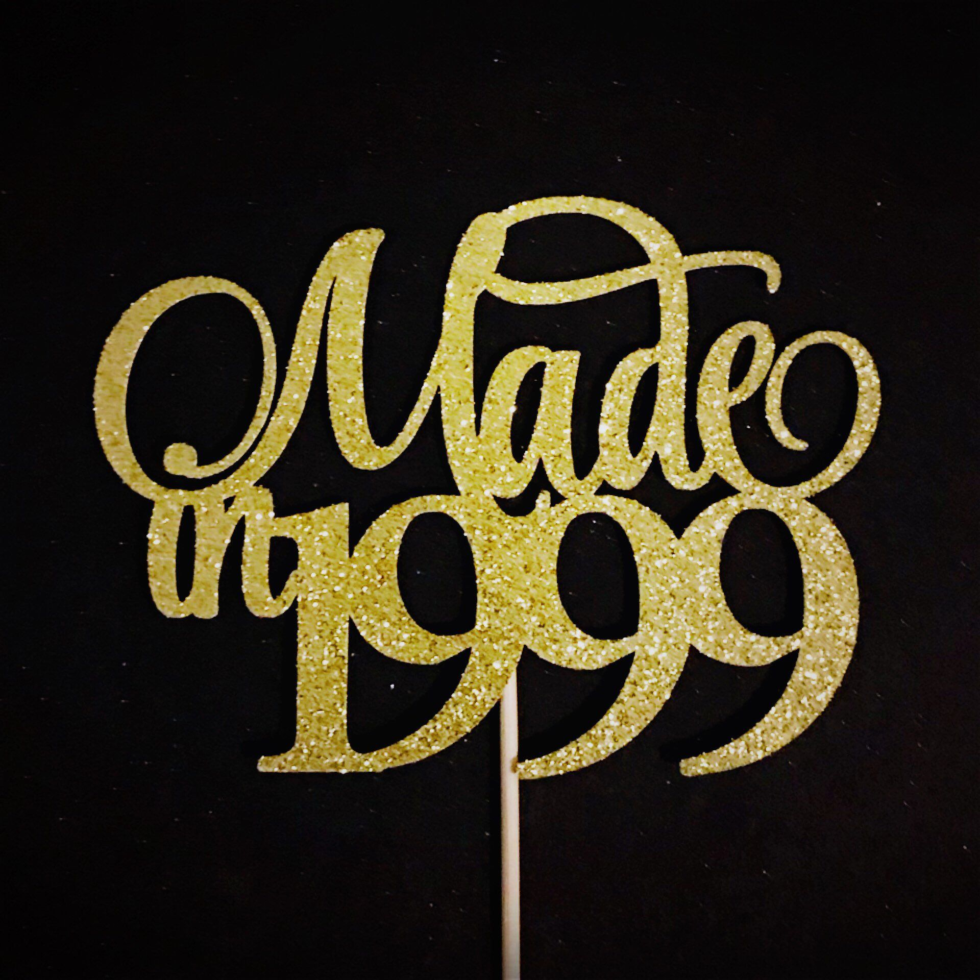 Excited To Share This Item From My Etsy Shop Made In 1999 Cake Topper 20th Birthday Birth Year