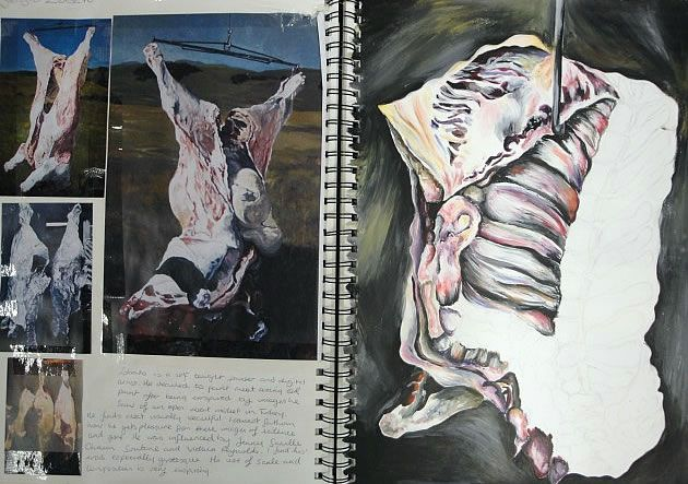 a level art sketchbook page