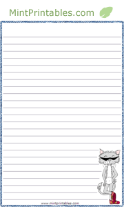 photo relating to Printable Letter Papers referred to as Cost-free Printable Neat Cat Stationery Letter paper Cost-free