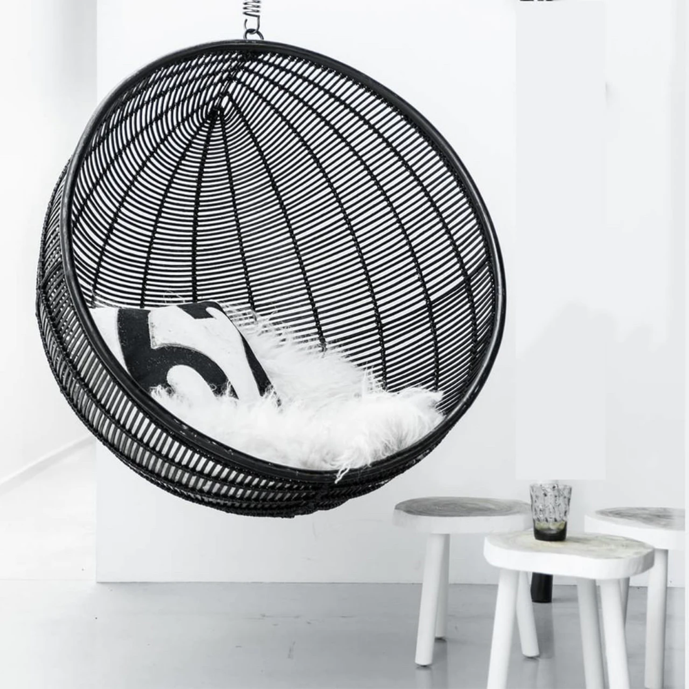 Bali Rattan Hanging Nest Ball Chair Natural In 2020 Hanging Rattan Chair Swinging Chair Indoor Hanging Chair