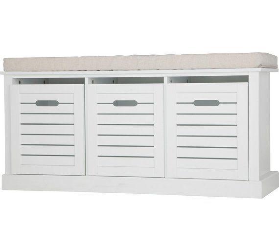 Buy Home Hereford Storage Bench White At Argos Co Uk Visit
