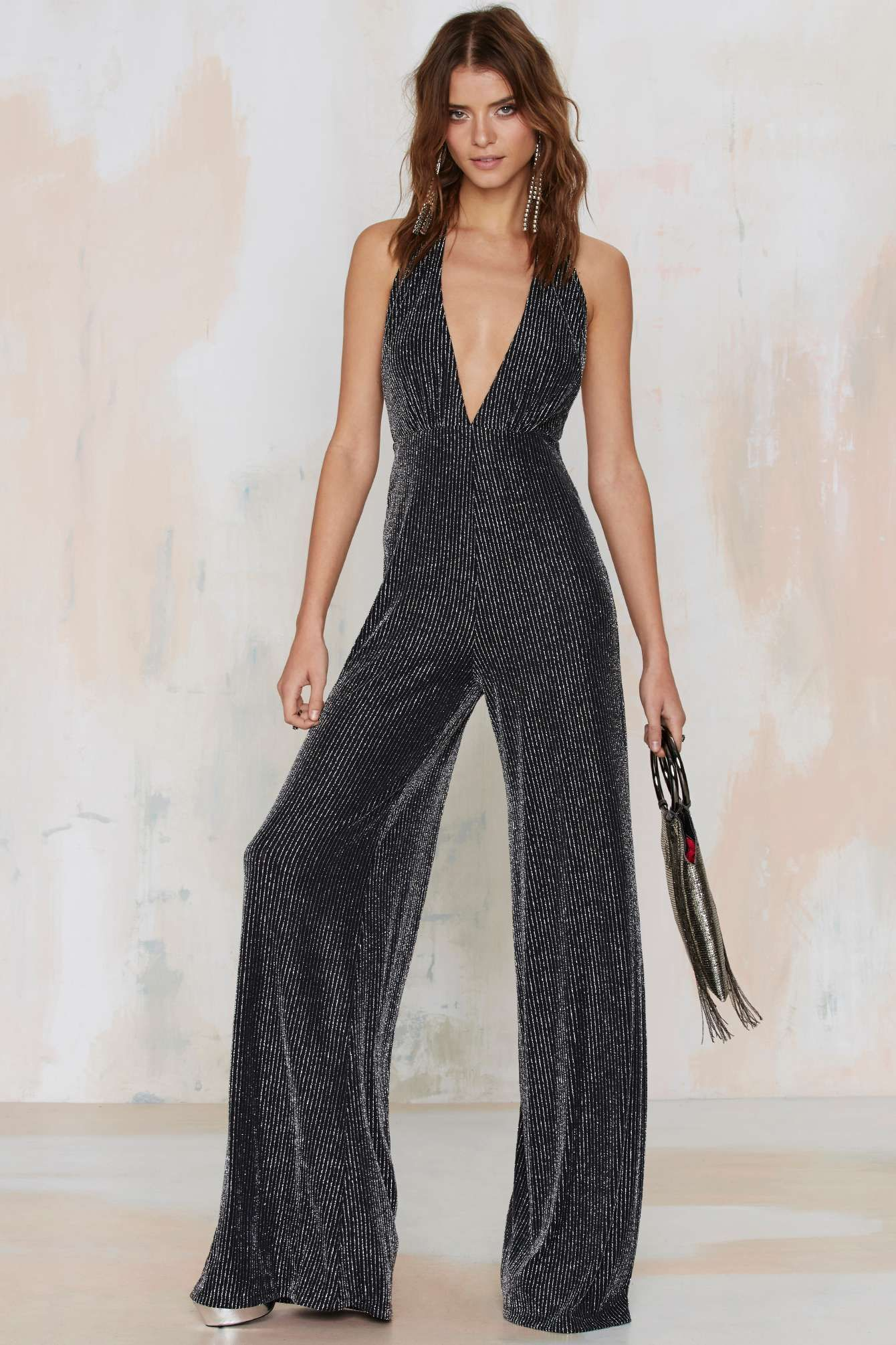 d2539756602 Every Night Fever Striped Jumpsuit
