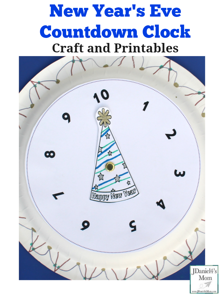New Year's Eve Countdown Clock Craft and Printables New