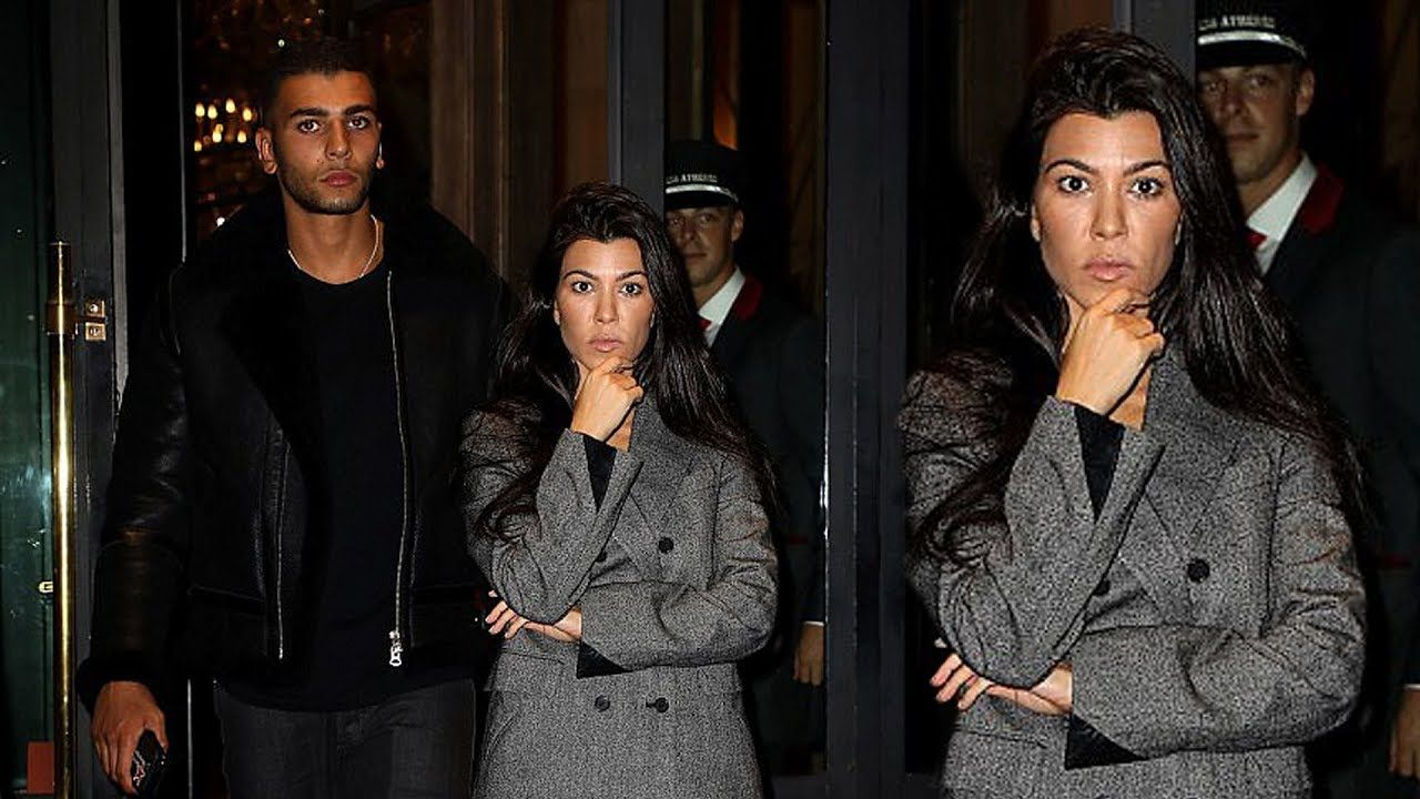 Kourtney Kardashian keeps a straight face as she goes casual cool