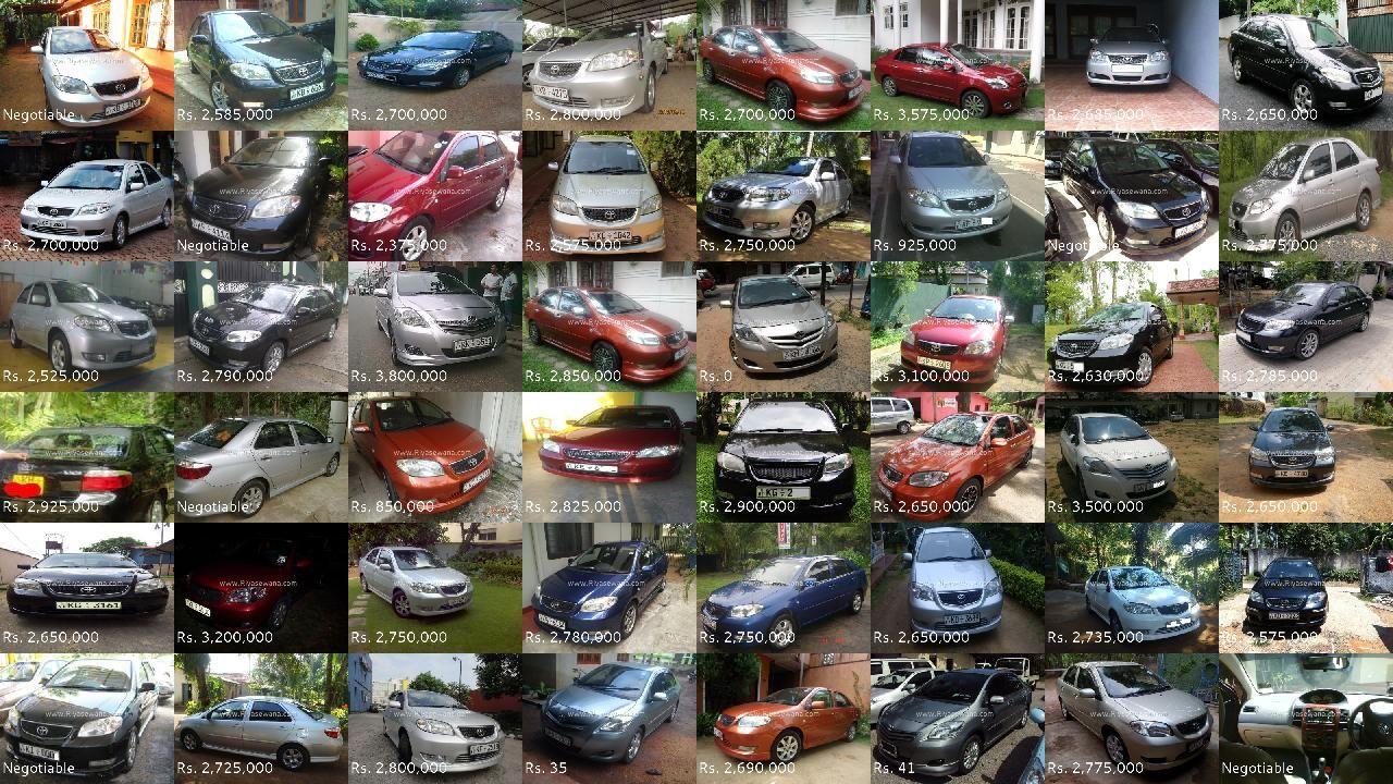 Toyota Vios Cars for sale on Riyasewana Toyota vios