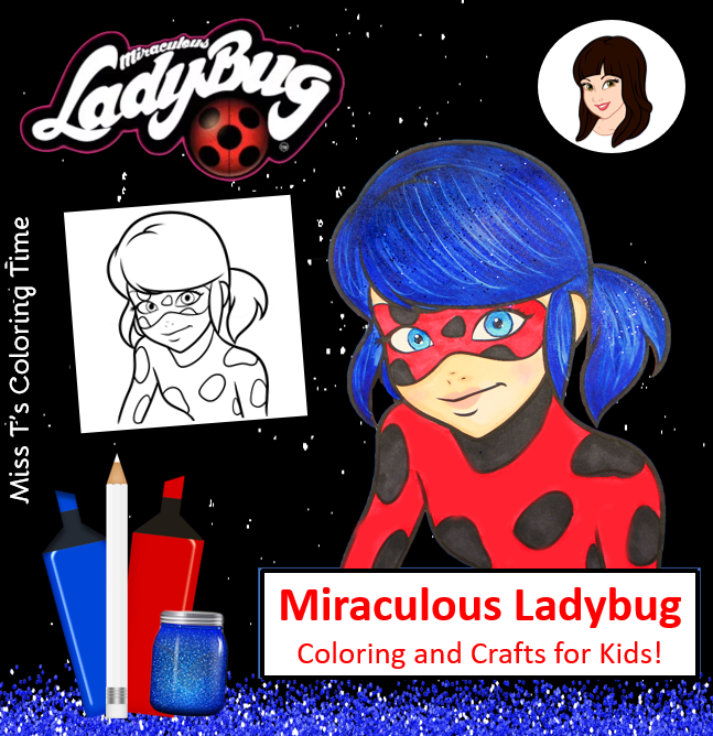 The Miraculous Ladybug Coloring Page Video For Kids The Miraculous Ladybug Is One My Favorite Super Ladybug Coloring Page Coloring For Kids Miraculous Ladybug