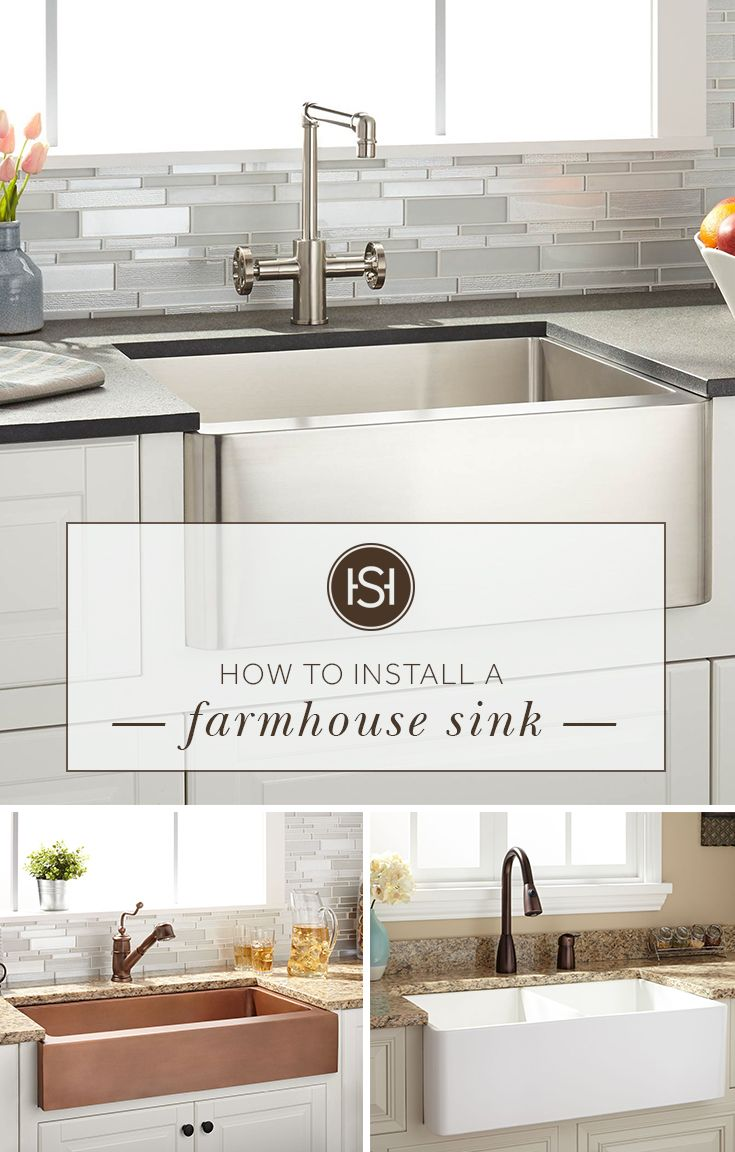 How To Install A Farmhouse Sink Diy Kitchen Remodel Farmhouse