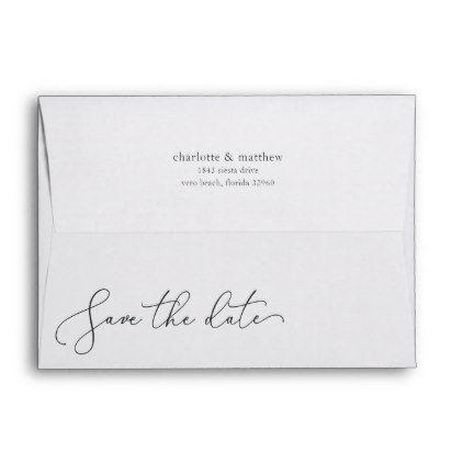 save the date 5x7 return address envelope return address labels